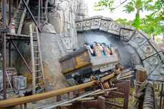 CHIBA, JAPAN: Raging Spirits attraction in Lost River Delta area in Tokyo Disneysea located in Urayasu, Chiba, Japan Stock Photo