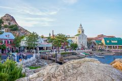 CHIBA, JAPAN: Mediterranean Harbor attraction in Tokyo Disneysea located in Urayasu, Chiba, Japan. Mediterranean Harbor attraction in Tokyo Disneysea located in stock photos