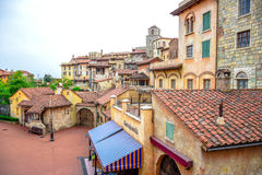 CHIBA, JAPAN: Mediterranean style of buildings and residence in Tokyo Disneysea located in Urayasu, Chiba, Japan Royalty Free Stock Photography