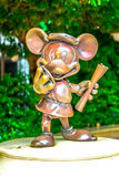 CHIBA, JAPAN: Mickey Mouse character statue at Tokyo Disney Resort, Urayasu, Japan. Mickey Mouse character statue at Tokyo Disney Resort, Urayasu, Japan Royalty Free Stock Images
