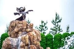 CHIBA, JAPAN: Mickey Mouse`s Fantasia statue in front of Tokyo Disneyland Hotel, Urayasu, Chiba, Japan. Mickey Mouse`s Fantasia statue in front of Tokyo Royalty Free Stock Photo