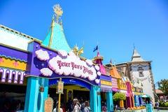 CHIBA, JAPAN: Peter Pan`s Flight attraction in Fantasyland, Tokyo Disneyland Royalty Free Stock Photos