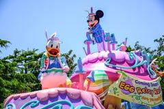 CHIBA, JAPAN: Tagesparade Urayasu, Japan Tokyos Disneyland Ostern Stockbilder