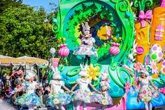 CHIBA, JAPAN: Tokyo Disneyland easter daytime parade Urayasu, Japan. Tokyo Disneyland easter daytime parade Urayasu, Japan Royalty Free Stock Image
