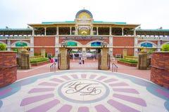 CHIBA JAPAN: Tokyo Disneyland Resort enskenig järnvägstation, Urayasu, Chiba, Japan royaltyfria bilder