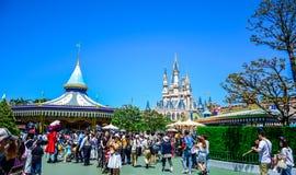 CHIBA, JAPAN: Tourist enjoying their time in Tokyo Disneyland Royalty Free Stock Photography