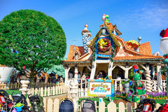 CHIBA, JAPAN: Tourist visiting Goofy`s Paint & Play House at Toontown of Tokyo Disneyland Stock Images