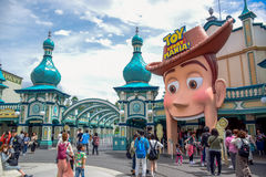 CHIBA, JAPAN: Toy Story Mania attraction in Tokyo Disneysea located in Urayasu, Chiba, Japan royalty free stock photography