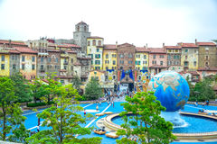 CHIBA, JAPAN: View of entrance area of Tokyo Disneysea located in Urayasu, Chiba, Japan Stock Photography