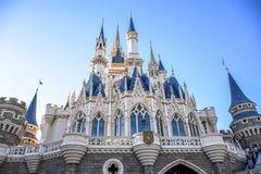 CHIBA, JAPAN: View of Tokyo Disneyland Cinderella Castle Royalty Free Stock Photos