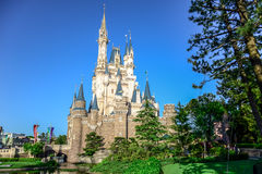 CHIBA, JAPAN: View of Tokyo Disneyland Cinderella Castle Royalty Free Stock Image