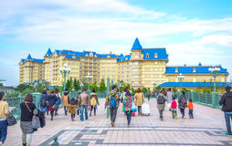 CHIBA, JAPAN: View of Tokyo Disneyland Hotel located in Tokyo Disney Resort, Urayasu, Chiba, Japan. View of Tokyo Disneyland Hotel located in Tokyo Disney Resort royalty free stock images