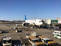 Chiba Japonia, Luty, - 19, 2017: widok Narita lotniska operati fotografia stock
