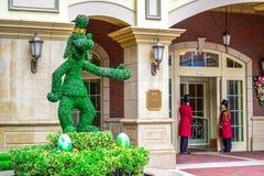 CHIBA, JAPONIA: Niemądrzy mile widziany goście przy wejściem Tokio Disneyland hotel lokalizować w Tokio Disney Uciekają się, Uray obrazy royalty free