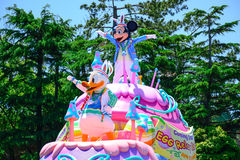 CHIBA, JAPONIA: Tokio Disneyland Easter dzienna parada Urayasu, Japonia Zdjęcie Royalty Free