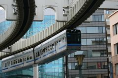 Chiba monorail in Operation Royalty Free Stock Image