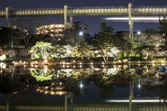 Chiba park in the evening during Hanami stock photo
