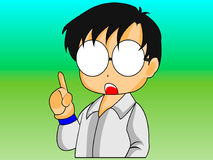 Chibi-Anime-Politiker Character Stockfoto