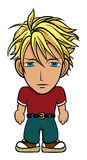 Chibi blond hero Stock Image