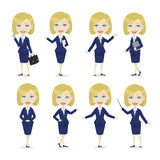 Chibi Blonde Female Character Business Woman Stock Photo