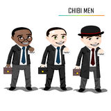 Chibi businessman vector Stock Photos