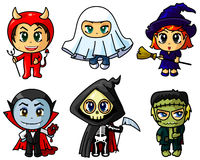 Chibi halloween Royalty Free Stock Images