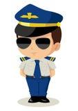 Chibi Pilot Royalty Free Stock Photo