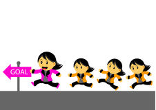 Chibi Woman Cartoon Character Royalty Free Stock Image