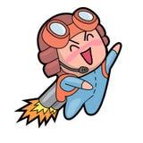 Chibijongen in anime en mangastijl Stock Fotografie