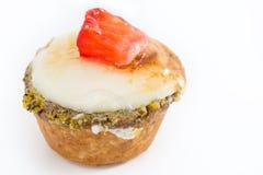Chibouste-Törtchen mit Vanille und Frucht lizenzfreie stockfotografie