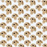 Chiby psi bezszwowy wzór Obrazy Royalty Free