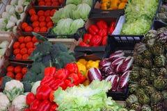 Chicória vermelha, radicchio, pimentas vermelhas, alcachofras Foto de Stock Royalty Free