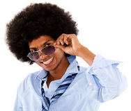 Chic afro man Stock Images