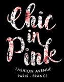 Chic auf rosa Mode stock abbildung