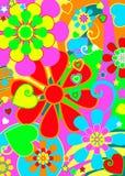 chic blommahippieström vektor illustrationer