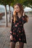 chic brunetek odizolowane białe od young Fotografia Royalty Free