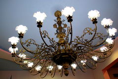 Chic chandelier Stock Images