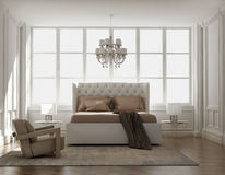 Chic classic elegant luxury bedroom Royalty Free Stock Photography