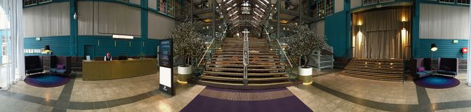 Chic design of reception and waiting area of Hotel Ovolo Woolloomooloo Stock Images