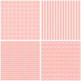 Chic different vector seamless patterns. Cute vector background stock illustration
