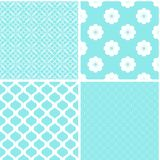 Chic different vector seamless patterns. Cute vector background royalty free illustration