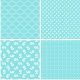 Chic different vector seamless patterns. For printing fabric and paper or scrap booking stock illustration