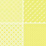 Chic different vector seamless patterns. For printing fabric and paper or scrap booking vector illustration