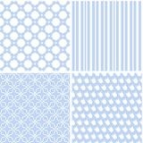 Chic different vector seamless patterns. For printing fabric and paper or scrap booking royalty free illustration