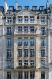 Chic facade of a Parisian building in the 16th arrondissement Royalty Free Stock Photos