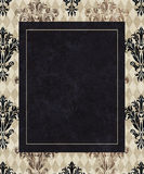 Chic Frame Copy Space on Taupe Harlequin and Damask Royalty Free Stock Photo