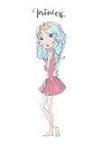 Chic girl illustration Royalty Free Stock Photo
