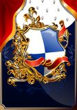 Chic heraldic coat of arms 01 (vector) Royalty Free Stock Photos