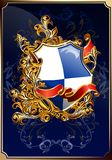 Chic heraldic coat of arms 02 (vector) Stock Photo
