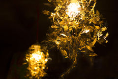 Chic lighting at cafe Royalty Free Stock Photography